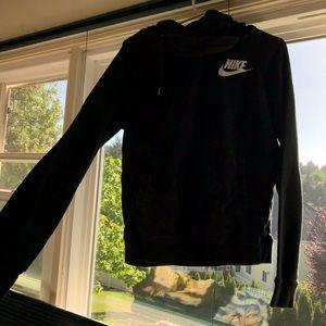 Nike funnel neck hoodie.